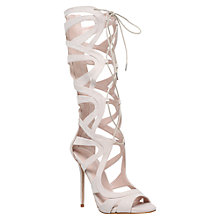 Buy Carvela Gylda Knee High Gladiator Sandals, Nude Online at johnlewis.com