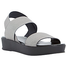 Buy Dune Lockwood Multi Strap Platform Sandals, Pewter Online at johnlewis.com