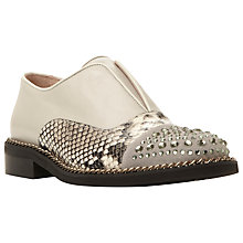 Buy Dune Black Georgi Leather Studded Slip On Brogues, Grey Online at johnlewis.com