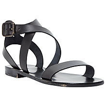 Buy Dune Lotti Flat Cross Strap Sandals Online at johnlewis.com
