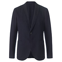 Buy Jigsaw Houndstooth Shawl Collar Blazer, Indigo Online at johnlewis.com