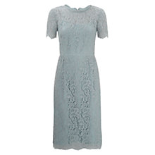 Buy Hobbs Lace Dress, Blue Online at johnlewis.com