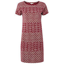 Buy White Stuff Lahori Dress, Coral Red Online at johnlewis.com