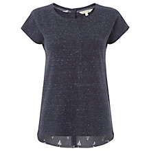 Buy White Stuff Flora T-shirt, Navy Online at johnlewis.com