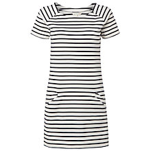 Buy White Stuff Terrarium Stripe Tunic Dress, White Online at johnlewis.com