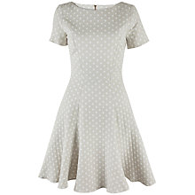 Buy Almari Polka Dot A-Line Dress, Stone Online at johnlewis.com