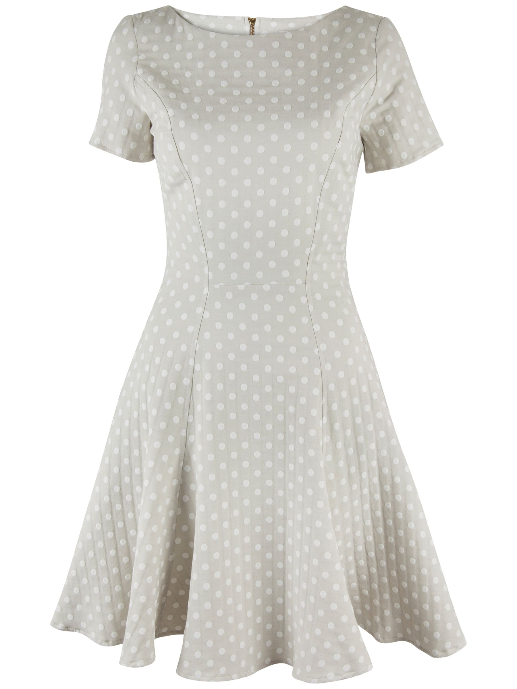 almari polka dot a-line dress stone, almari, polka, dot, a-line, dress, stone, 16|14|10|12|8, women, womens dresses, 1921353
