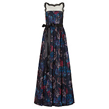 Buy Adrianna Papell Illusion Bodice Ball Gown, Blue/Multi Online at johnlewis.com