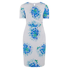 Buy Hobbs Floral Dress, Blue Multi Online at johnlewis.com