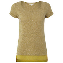 Buy White Stuff Jasia Spot Hem T-Shirt, Pineapple Online at johnlewis.com