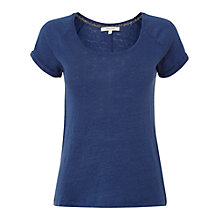 Buy White Stuff Rose Linen T-Shirt, Oyster Blue Online at johnlewis.com
