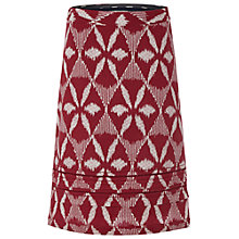 Buy White Stuff Ikat Diamond Skirt, Coral Red Online at johnlewis.com