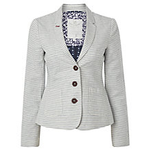 Buy White Stuff Newinton Stripe Blazer, White Online at johnlewis.com