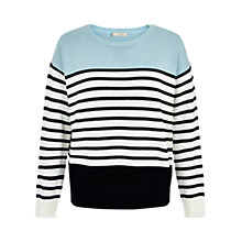 Buy Hobbs Clara Jumper, Barely Blue/Multi Online at johnlewis.com
