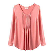 Buy East Pintuck Jersey Top, Flamingo Online at johnlewis.com