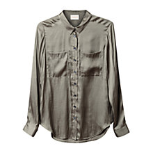 Buy East Pocket Detail Shirt, Khaki Online at johnlewis.com
