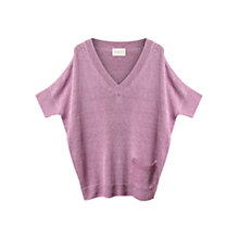 Buy East Ladder Stitch Jumper, Lavender Online at johnlewis.com