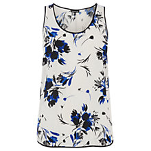 Buy Warehouse Watercolour Floral Vest, Multi Online at johnlewis.com