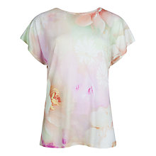 Buy Ted Baker Lagita Rose On Canvas T-Shirt, Nude Pink Online at johnlewis.com