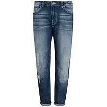 Buy Ted Baker Nashota Distressed Boyfriend Jeans, Mid Wash Online at johnlewis.com