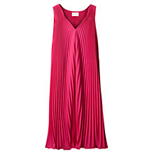 Buy East Sunray Pleat Dress, Peony Online at johnlewis.com