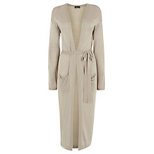 Buy Warehouse Long Belted Cardigan, Stone Online at johnlewis.com