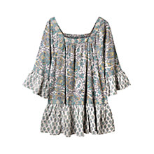 Buy East Arya Gypsy Blouse, White Online at johnlewis.com
