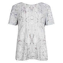 Buy Ted Baker Galwo Printed T-Shirt, White Online at johnlewis.com