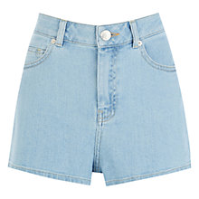 Buy Warehouse High Rise Denim Shorts, Light Wash Online at johnlewis.com