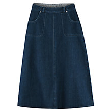 Buy East Denim Skirt, Indigo Online at johnlewis.com