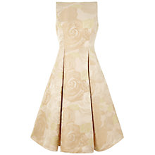 Buy Adrianna Papell Sleeveless Tea Length Dress, Champagne Online at johnlewis.com