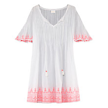 Buy East Pintuck Embroidered Dress, Flamingo Online at johnlewis.com