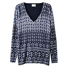 Buy East Linen Ikat Print Jumper, Indigo Online at johnlewis.com