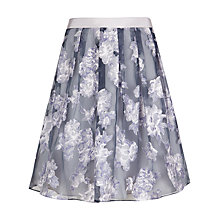 Buy Ted Baker Graysie Full Floral Skirt, Grey Online at johnlewis.com