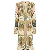 Buy Warehouse Palm Print Long Cardigan, Multi Online at johnlewis.com