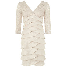 Buy Adrianna Papell Shimmer Tuck Lace Sheath Dress, Powder Online at johnlewis.com