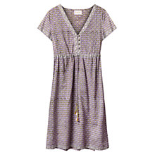 Buy East Booti Print Dress, Lavender Online at johnlewis.com