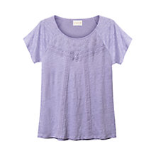 Buy East Lace Detail T-Shirt Online at johnlewis.com