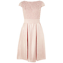 Buy Adrianna Papell Shimmer Panel Tuck Lace Dress, Petal Online at johnlewis.com