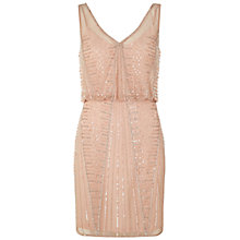 Buy Adrianna Papell Short Beaded Cocktail Dress, Petal Online at johnlewis.com