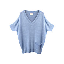 Buy East Ladder Stitch Jumper, Sky Online at johnlewis.com