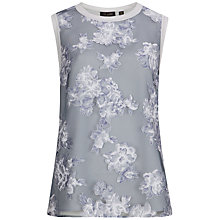 Buy Ted Baker Burn Out Top, Light Grey Online at johnlewis.com