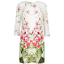 Buy Ted Baker Oletta Mirrored Tropics Tunic Dress, Ivory Online at johnlewis.com