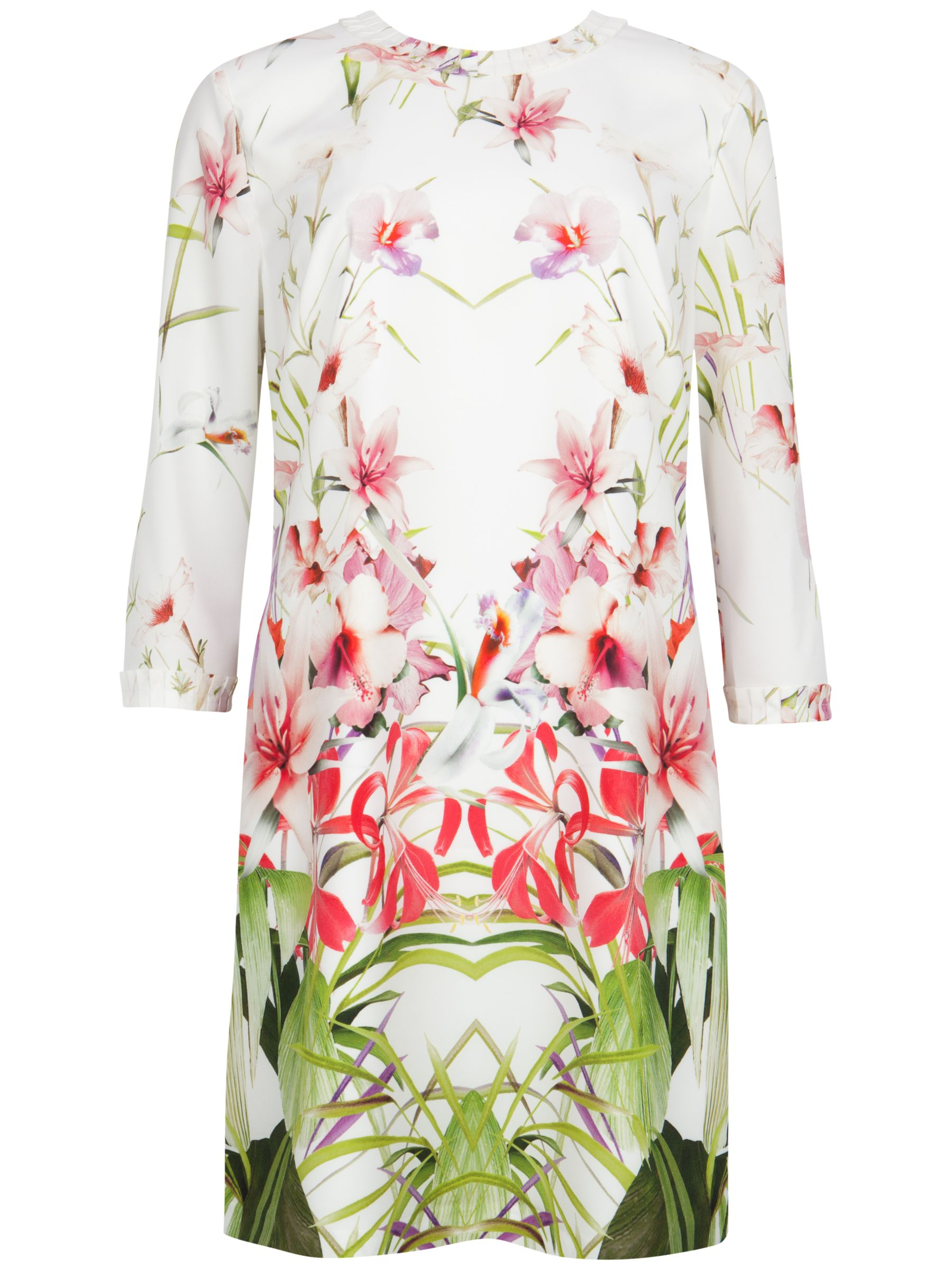 ted baker oletta mirrored tropics tunic dress ivory, ted, baker, oletta, mirrored, tropics, tunic, dress, ivory, ted baker, 1|0|2|3|4|5, women, womens dresses, new in clothing, fashion magazine, womenswear, men, brands l-z, 1929610