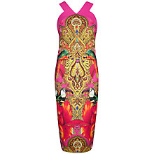 Buy Ted Baker Valeena Paisley Toucan Cross Dress, Bright Pink Online at johnlewis.com