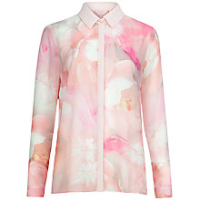 Buy Ted Baker Rosle Rose On Canvas Shirt, Nude Pink Online at johnlewis.com