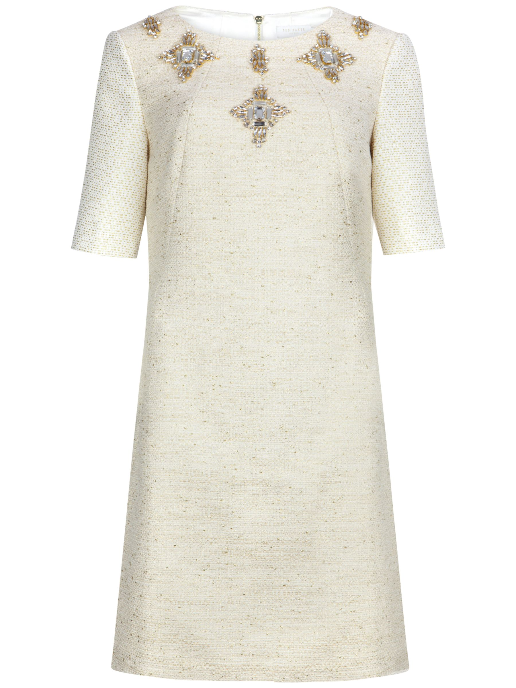 ted baker embellished shift dress cream, ted, baker, embellished, shift, dress, cream, ted baker, 0|4|1|3|2|5, women, womens dresses, fashion magazine, womenswear, men, brands l-z, 1923991