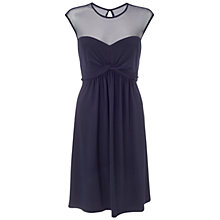 Buy Ariella Charlie Mesh Neck Dress, Navy Online at johnlewis.com