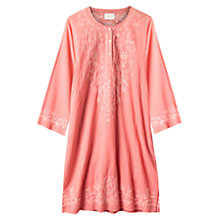 Buy East Chikkan Embellished Kurta, Flamingo Online at johnlewis.com