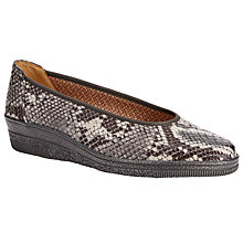 Buy Gabor Piquet Wide Fit Wedge Shoes, Koala Snake Online at johnlewis.com
